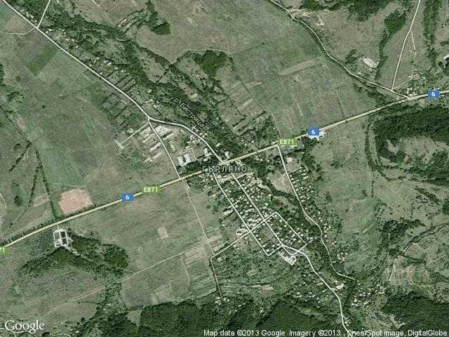Сателитна карта на Гърляно