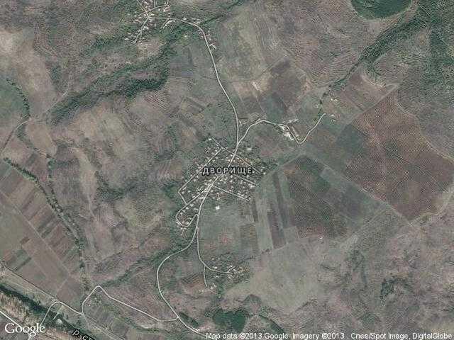 Сателитна карта на Дворище