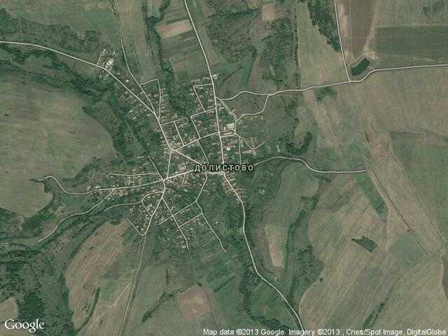 Сателитна карта на Долистово