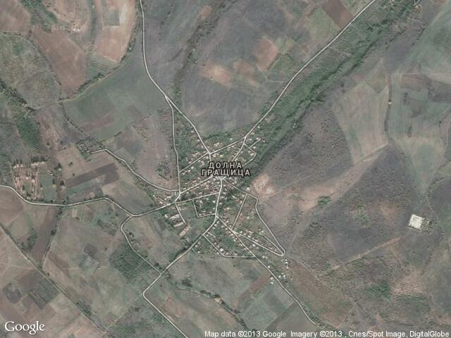 Сателитна карта на Долна Гращица