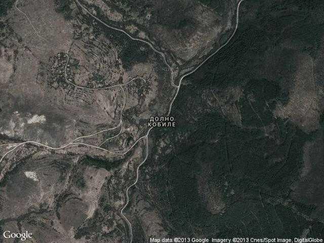 Сателитна карта на Долно Кобиле