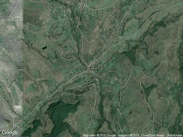 Сателитна карта на Еремия