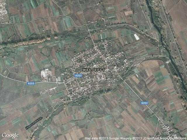 Сателитна карта на Жабокрът