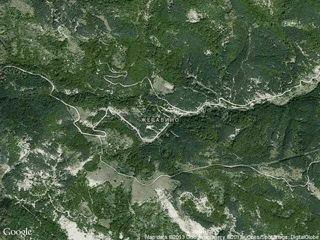 Сателитна карта на Жеравино
