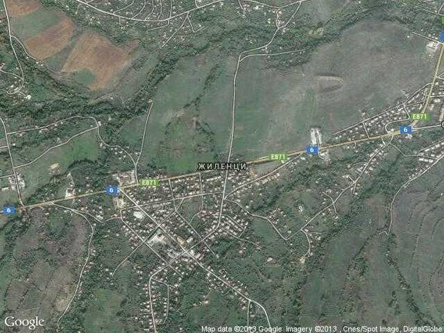 Сателитна карта на Жиленци