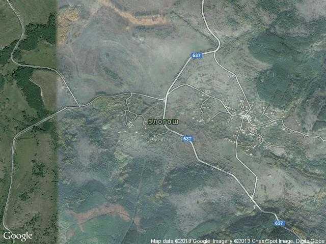 Сателитна карта на Злогош