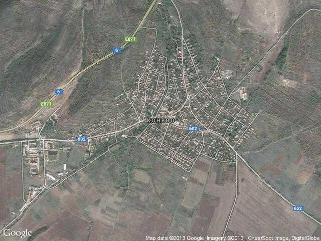 Сателитна карта на Коняво