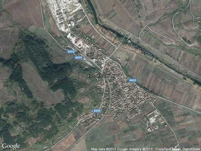 Сателитна карта на Копиловци