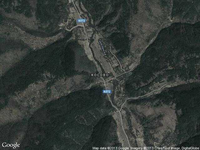 Сателитна карта на Косово