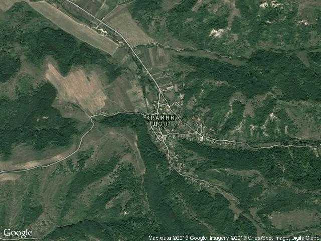 Сателитна карта на Крайни дол