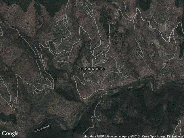 Сателитна карта на Кършалево