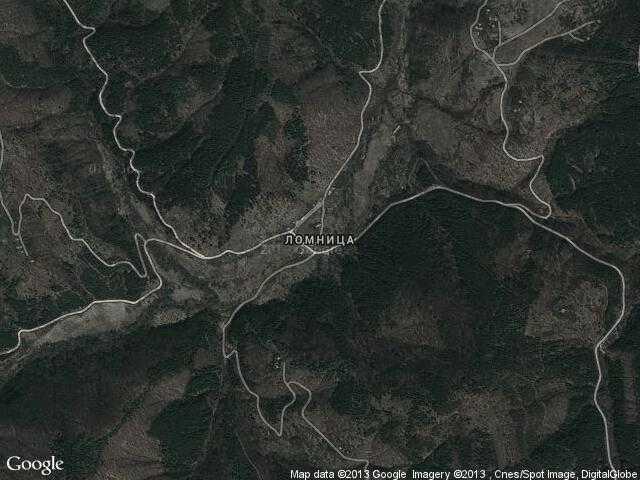Сателитна карта на Ломница