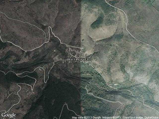 Сателитна карта на Мазарачево