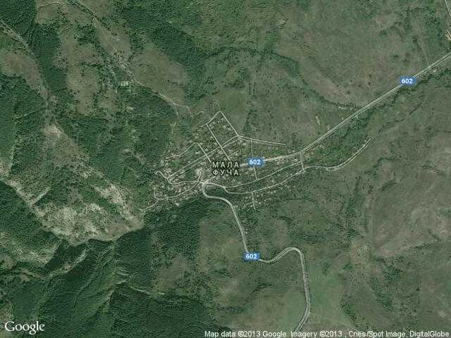 Сателитна карта на Мала Фуча