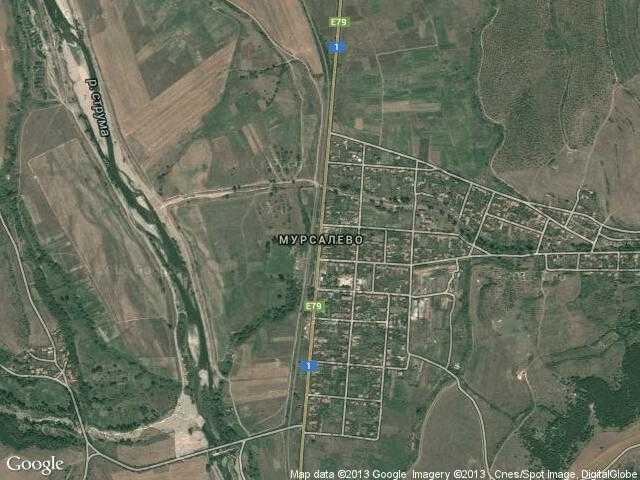 Сателитна карта на Мурсалево