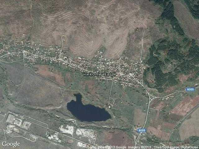 Сателитна карта на Николичевци