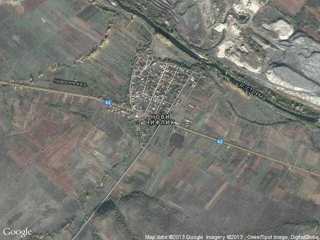 Сателитна карта на Нови чифлик