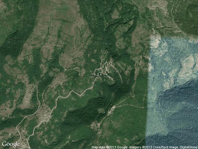 Сателитна карта на Падала