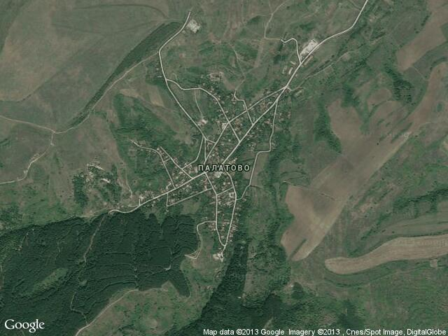 Сателитна карта на Палатово