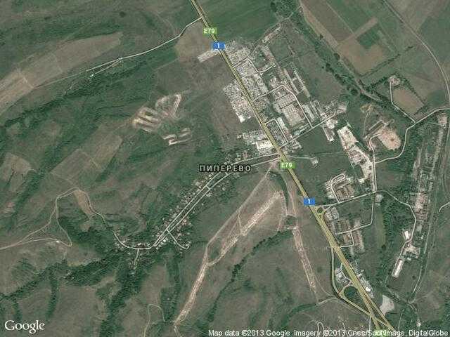 Сателитна карта на Пиперево