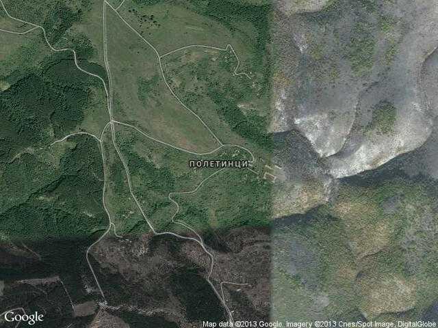 Сателитна карта на Полетинци