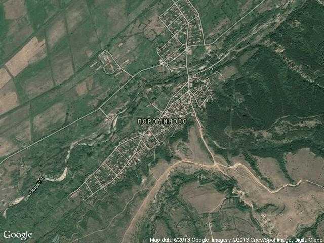 Сателитна карта на Пороминово