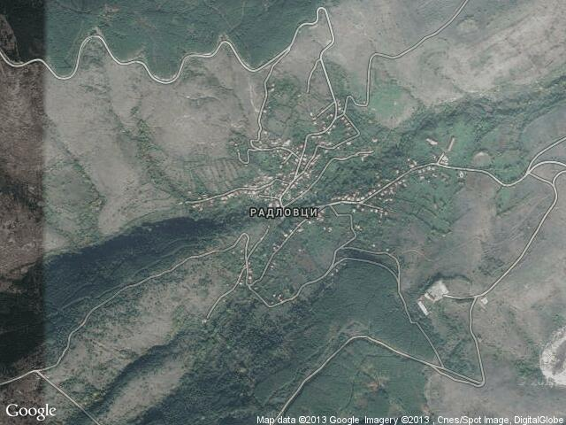 Сателитна карта на Радловци