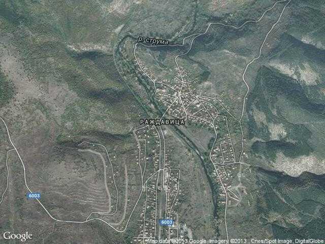 Сателитна карта на Раждавица