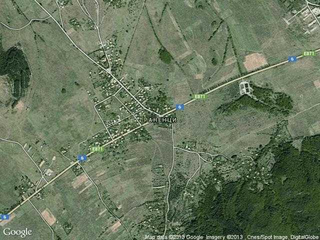 Сателитна карта на Раненци