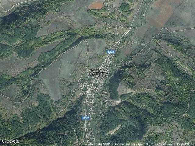 Сателитна карта на Рашка Гращица