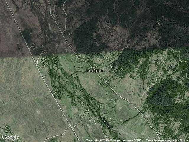 Сателитна карта на Ръсово