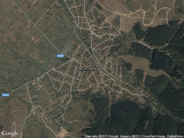 Сателитна карта на Сапарево