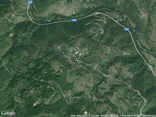 Сателитна карта на Скрино