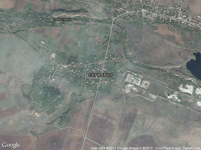 Сателитна карта на Скриняно
