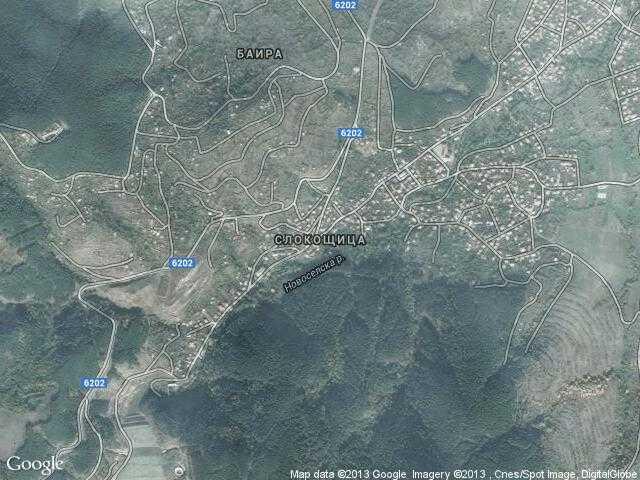 Сателитна карта на Слокощица