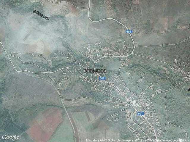 Сателитна карта на Соволяно