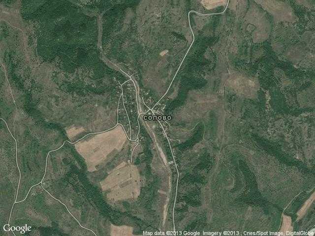 Сателитна карта на Сопово