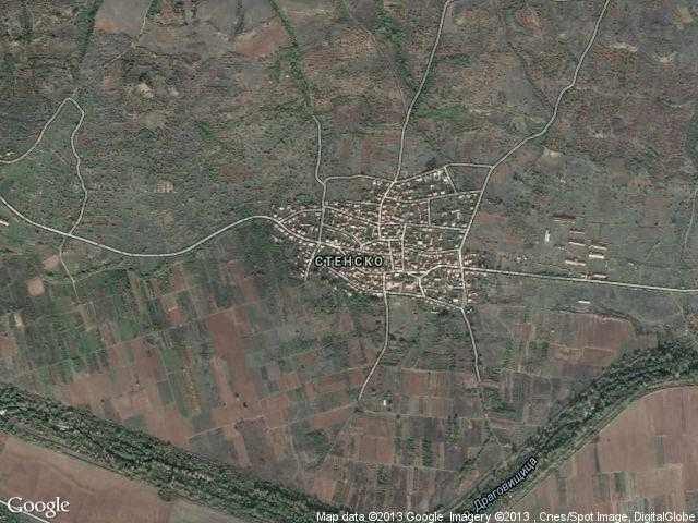 Сателитна карта на Стенско
