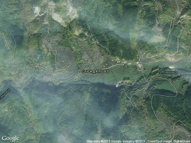 Сателитна карта на Страдалово