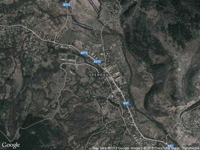 Сателитна карта на Трекляно