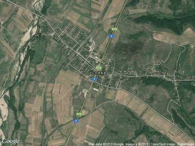 Сателитна карта на Усойка