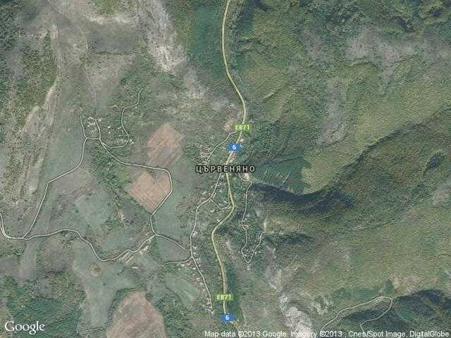 Сателитна карта на Цървеняно