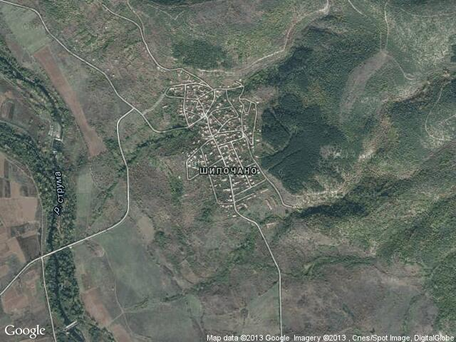 Сателитна карта на Шипочано