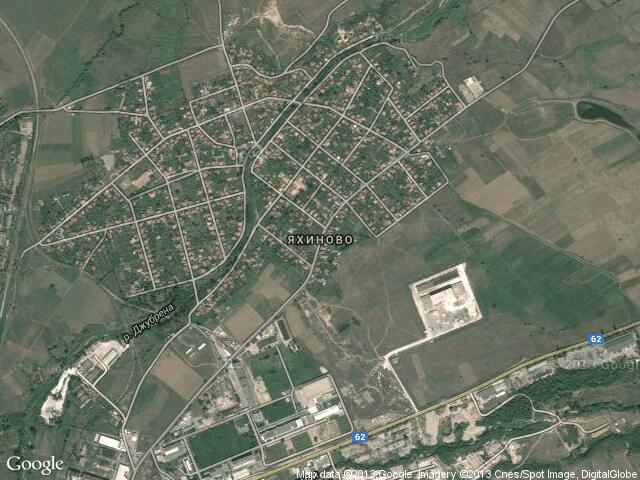 Сателитна карта на Яхиново