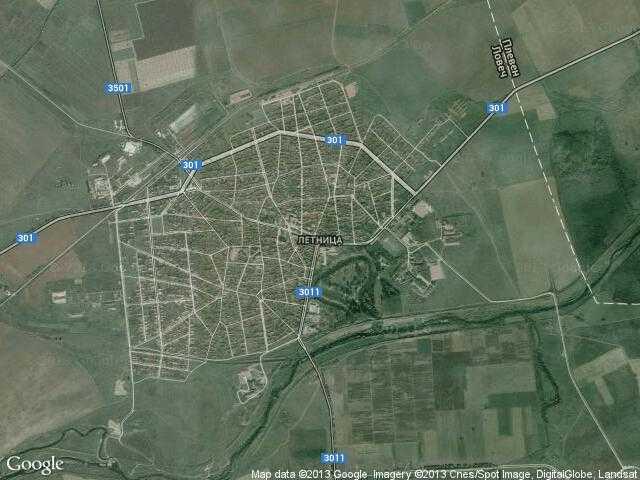 Сателитна карта на Летница