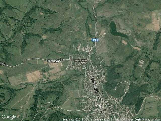 Сателитна карта на Угърчин