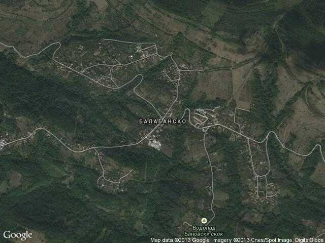 Сателитна карта на Балабанско