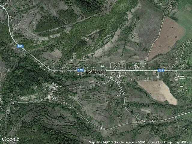 Сателитна карта на Батулци