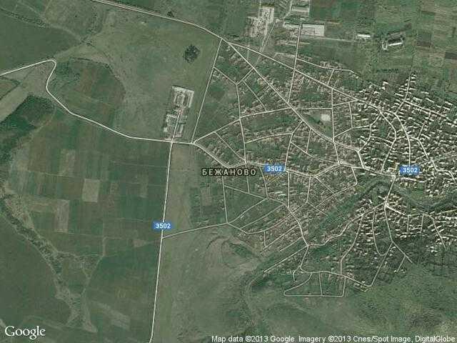 Сателитна карта на Бежаново