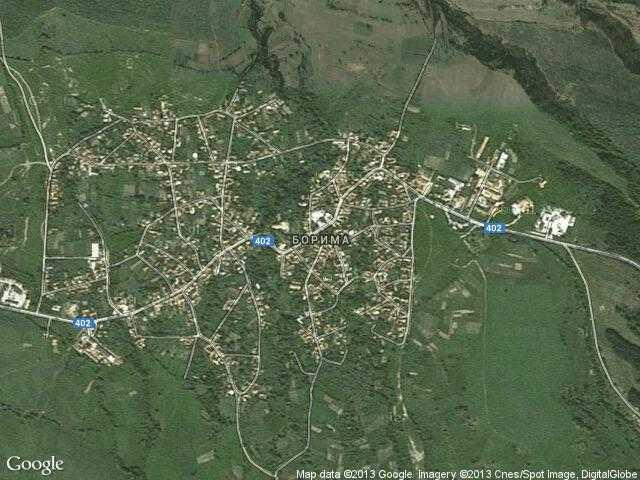 Сателитна карта на Борима